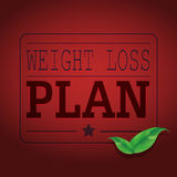 Weight Loss Plan banner Vector art Royalty Free Stock Image