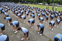 Weight loss program. CAMP CRAME, QUEZON CITY, PHILIPPINES June 14, 2012 National Head Quarters of Philippine National Police, launch its physical fitness program stock photo