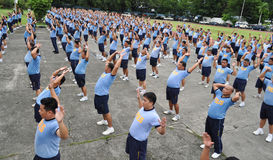 Weight loss program. CAMP CRAME, QUEZON CITY, PHILIPPINES June 14, 2012 National Head Quarters of Philippine National Police, launch its physical fitness program stock photography