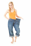 Weight loss - proud of herself young woman Stock Photography