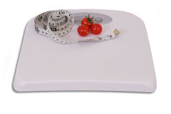 Weight loss scale Stock Image