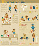 10 weight loss tips  Stock Image