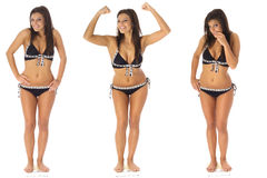 Weight loss triplets Royalty Free Stock Photo