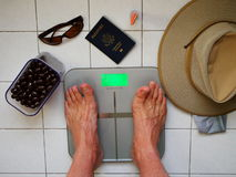 Weight loss - vacation Stock Image