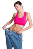 Weight Loss Woman. Skinny weight loss success woman Stock Images