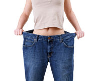 Weight loss woman Royalty Free Stock Photo