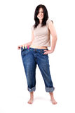 Weight loss woman Stock Image