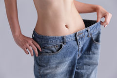 Weight loss woman Royalty Free Stock Image