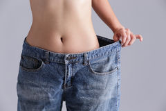 Weight loss woman Royalty Free Stock Photography