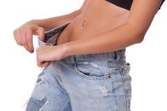 Weight loss woman Stock Photo