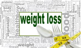 Weight loss word cloud. Creative illustration of idea word lettering typography . 3D rendering Royalty Free Stock Image