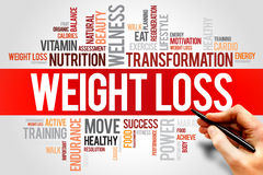 WEIGHT LOSS. Word cloud, fitness, sport, health concept Royalty Free Stock Photos