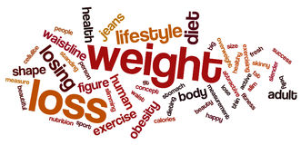 Weight loss word cloud Stock Photography