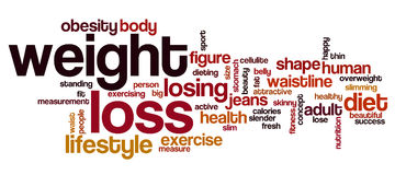 Weight loss word cloud Royalty Free Stock Photos
