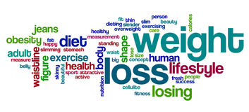 Weight loss word cloud Stock Photo