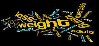 Weight loss word cloud Royalty Free Stock Photo