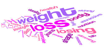 Weight loss word cloud Stock Photos