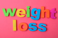 Weight loss words on background Stock Photo