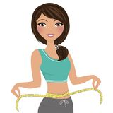 Weight loss workout woman royalty free illustration