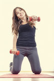 Weight loss young woman Royalty Free Stock Photo