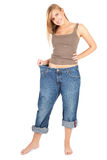 Weight lost young woman Royalty Free Stock Photo