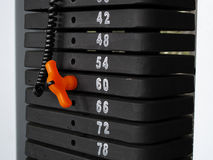 Weight machine selection Royalty Free Stock Photos