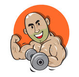 Weight man power strong vector Royalty Free Stock Images
