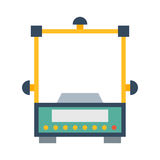 Weight measurement instrumentation tool vector. Royalty Free Stock Photos