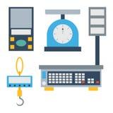 Weight measurement instrumentation tool vector. Stock Photo