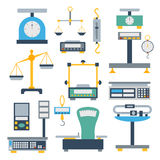 Weight measurement instrumentation tool vector. Royalty Free Stock Photo
