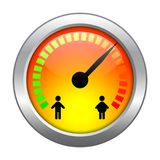 Weight Meter rounded icon. Royalty Free Stock Images
