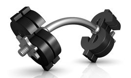 The weight of money Stock Image