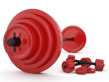 Weight and pair of dumbbells, 3D Stock Photography