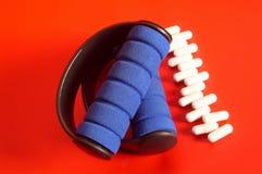Weight & pills. Sport: Weight & pills Stock Images