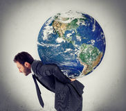 The weight of the planet royalty free stock photo