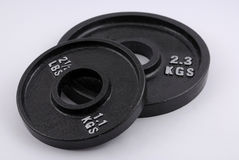 Weight plates Stock Photography