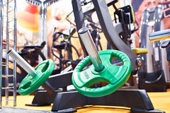 Weight plates for barbell Royalty Free Stock Photo