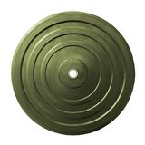Weight plates isoalted on white stock images