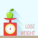 Weight poster diet Stock Image