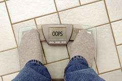 Weight problems? Stock Photography