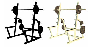 Weight racks Royalty Free Stock Image