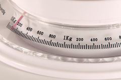 Weight scale. Kitchen weight scale, 0-1 kg Royalty Free Stock Photo
