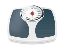 Weight scale. 3d illustration of bathroom weight scale on white background Royalty Free Stock Photography