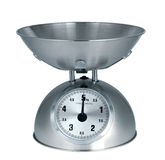 Weight scale. Set on the white background Royalty Free Stock Image