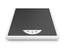 Weight scale. Bathroom weight scale isolated on white background Stock Images