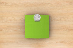 Weight scale. 3d rendering weight scale on wooden background Royalty Free Stock Image
