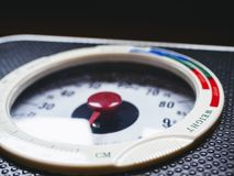 Weight Scale display Close up Royalty Free Stock Image