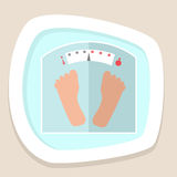 Weight scale icon Royalty Free Stock Photos