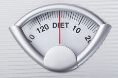 Weight scale indicating diet Stock Image
