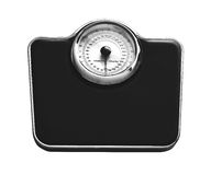 Weight scale isolated on white Stock Photo